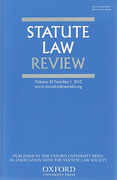 Cover of Statute Law Review: Print Only