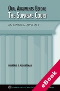Cover of Oral Arguments Before the Supreme Court: An Empirical Approach (eBook)
