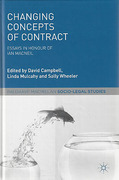 Cover of Changing Concepts of Contract: Essays in Honour of Iain Macneil