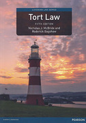 Cover of Tort Law 5th ed (MyLawChamber)