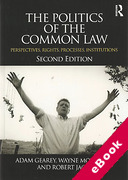 Cover of The Politics of the Common Law: Perspectives, Rights, Processes, Institutions (eBook)