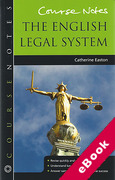Cover of Course Notes: English Legal System (eBook)