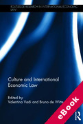 Cover of Culture and International Economic Law (eBook)
