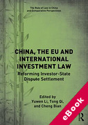 Cover of China, the EU and International Investment Law Reforming Investor-State Dispute Settlement (eBook)