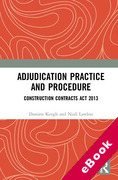Cover of Adjudication Practice and Procedure: Construction Contracts Act 2013 (eBook)