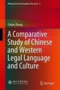Cover of A Comparative Study of Chinese and Western Legal Language and Culture