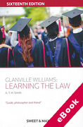 Cover of Glanville Williams: Learning the Law (eBook)