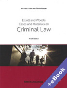 Cover of Elliott and Wood's Cases and Materials on Criminal Law (Book & eBook Pack)