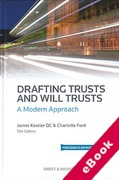 Cover of Drafting Trusts and Will Trusts: A Modern Approach (eBook)