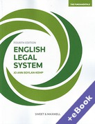 Cover of English Legal System: The Fundamentals (Book & eBook Pack)