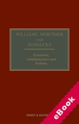 Cover of Williams, Mortimer and Sunnucks: Executors, Administrators and Probate (eBook)