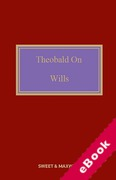 Cover of Theobald on Wills 18th ed with 1st Supplement (eBook)