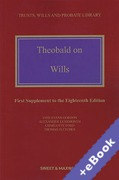 Cover of Theobald on Wills 18th ed: 1st Supplement (Book & eBook Pack)