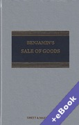 Cover of Benjamin's Sale of Goods 10th ed with 2nd Supplement (Book & eBook Pack)