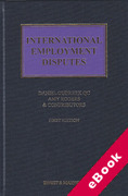 Cover of International Employment Disputes (eBook)