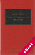 Cover of Arnould's Law of Marine Insurance and Average: 19th ed with 2nd ed Supplement (eBook)