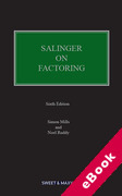 Cover of Salinger on Factoring: The Law and Practice of Invoice Financing (eBook)