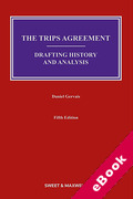 Cover of The TRIPS Agreement: Drafting History and Analysis (eBook)