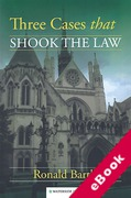 Cover of Three Cases that Shook the Law (eBook)